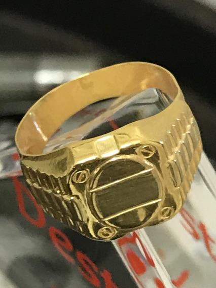 Anel Em Ouro 18k-6.5gr. Aro 18.750 - Unisex E Lindo.