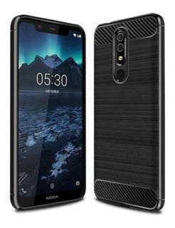 Funda Tpu Fibra Carbono Para Nokia 5.1 Plus 7.1