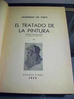 Adp El Tratado De La Pintura Leonardo De Vinci / 1952