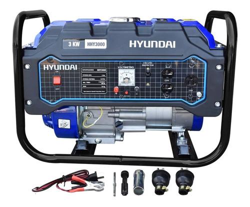 Imagen 1 de 6 de Generador Planta De Luz Hyundai 3,000w 110/220v 7.5hp