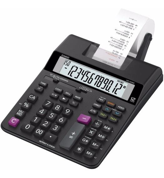 Calculadora Com Bobina Casio Hr-100 Rc Impressão Em 2 Cores