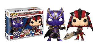Funko Pop! Black Panther Vs Monster Hunter Pack X 2