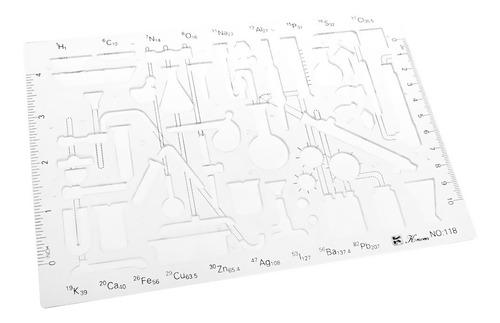 Imagen 1 de 3 de Plantilla De Química Elegante De Dibujo De Plástico