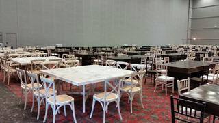 Comedor Vintage Blanco Lavado 8 Sillas Mesa 1.60m X 1.60 M