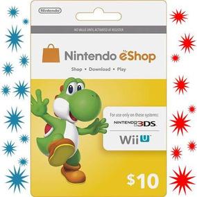 Tarjeta Nintendo Eshop Card $10 Usd 3ds Wii U Inmediato