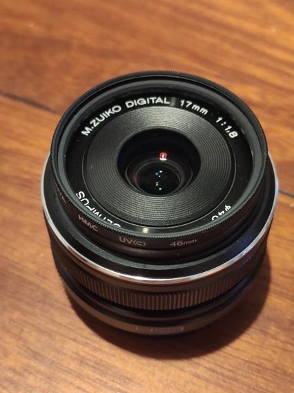 Lente Olympus 17mm F1.8 Com Case E Filtro Uv Roya
