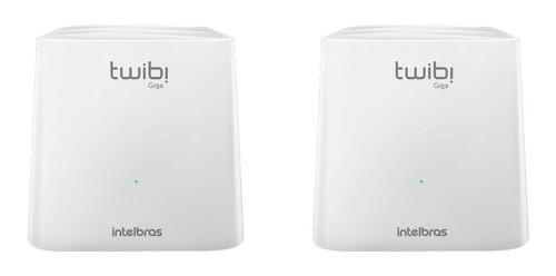 Sistema Wi-fi Mesh, Roteador Intelbras Kit Twibi Giga Branco