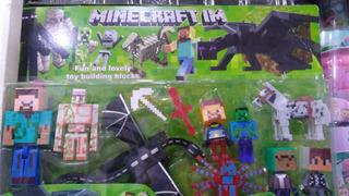 Minecraft Figuras Muñecos X 10 Dragon Caballo Steve