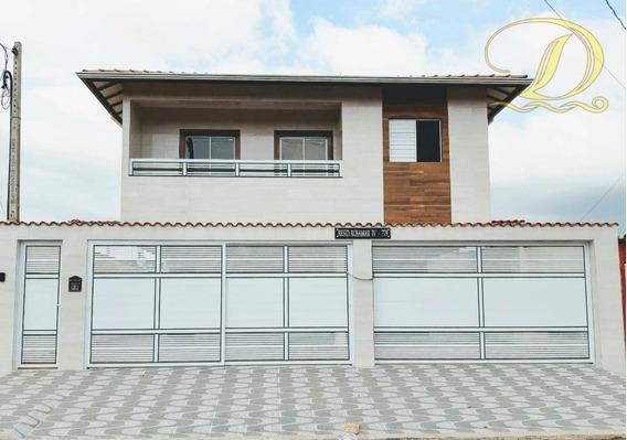 Casa Com 2 Dormitórios À Venda, 60 M² Por R$ 180.000 - Balneário Esmeralda - Praia Grande/sp - Ca0137