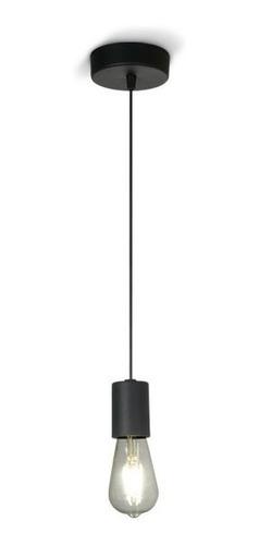 Lámpara Colgante Negro 1 Luz Hierro