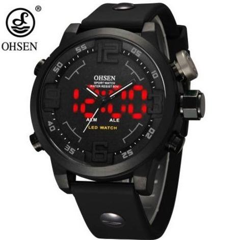 Relógio Esporte Quartz Digital Led Preto Ohsen Prova D