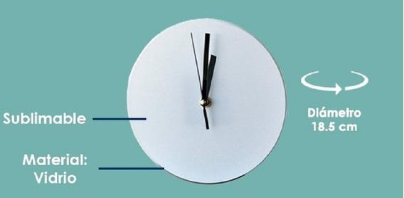 20 Relojes Redondos Sublimarts Diametro 18.5 Cm
