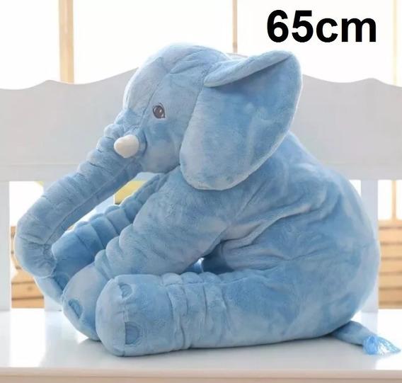 Elefante Gigante 65cm Pelúcia Naninha Travesseiro Neném Bebê