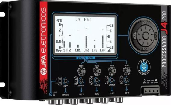 Processador De Áudio Digital Jfa J4 Pro Crossover Cross Full