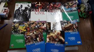 Hq Guerra Civil Marvel Panini Lote Com 9 Revistas