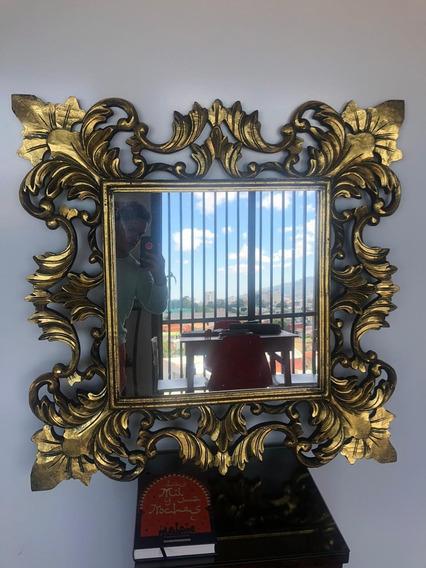 Espejo Con Marco De Teca