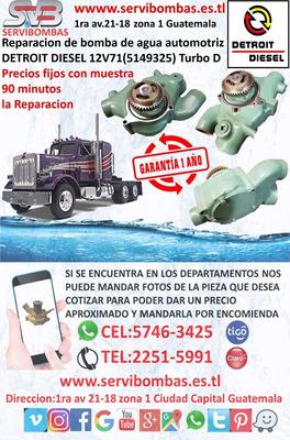 Bombas De Agua Automotrices Detroit Diesel 12v71 Guatemala