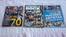 Lote Almanaque Do Rock.top 100.rolling Stones.pôster Do Kiss