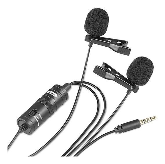 Microfone Lapela Duplo Boya By-m1dm