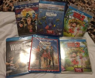 Lote 6 Películas Blue Ray 3d + Blue Ray Originales Nuevas