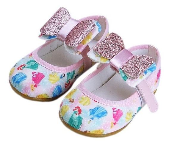 Sapatilha Princesas Customizada Laço Aniversário Cinderela