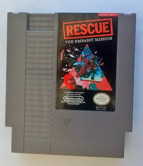 Cartucho Video Game Nintendo Nes Rescue The Embassy Mission