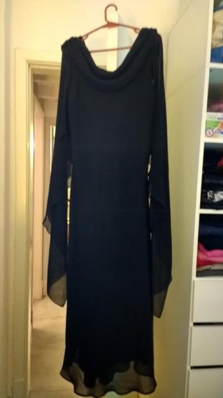 Vestido De Fiesta Alta Costura Crepe Georgette Elegante