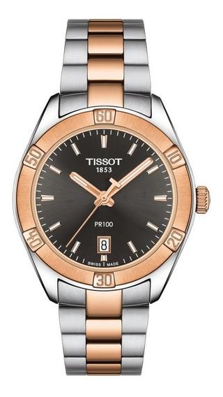 Relogio Tissot Feminino Pr100 Misto Rose T101.910.22.061.00