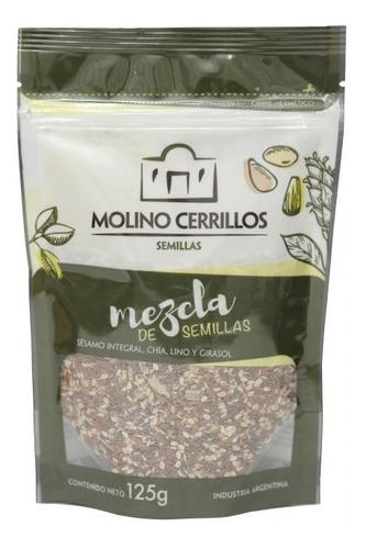 Imagen 1 de 3 de Mix Semillas Molino Cerrillos Sésamo Chia Lino Girasol 125g