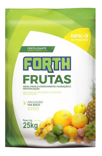Imagem 1 de 7 de Fertilizante Forth Adubo Para Frutas - 25kg