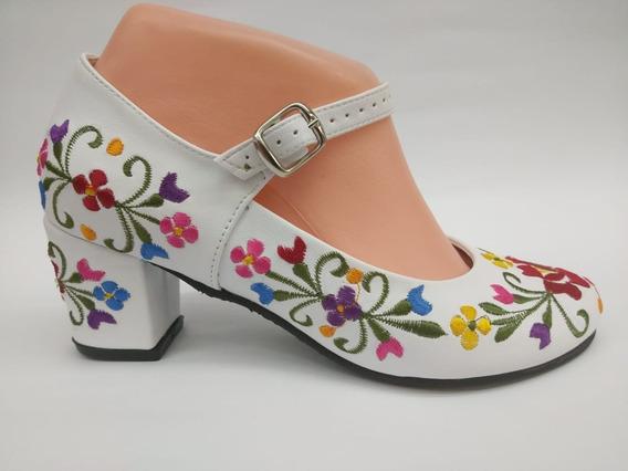 Zapatos Bordados Para Niña