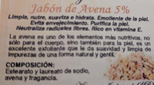 Jabón De Avena 5% 100g