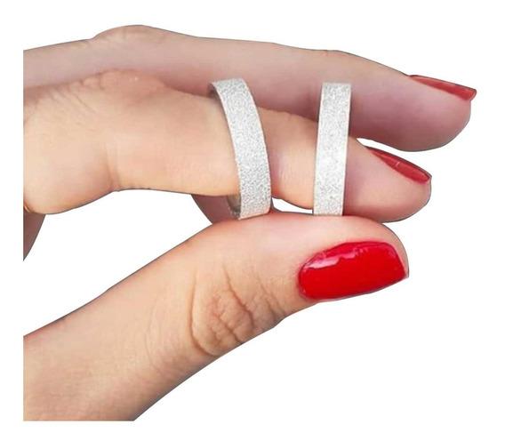 Alianças Prata Compromisso Brilhosa 3mm Com Garantia Eterna