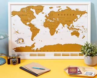 Mapa Mundial Viajero Rascar Scratch Map Tamaño Grande 2019