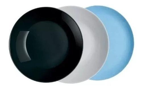 Plato Playo 25 Cm Luminarc Modelo Diwali Vidrio Templado !!