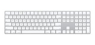 Teclado para pc QWERTY Apple A1843 inglés US plata y blanco