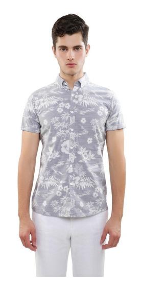 Camisa Manga Corta 100% Algodón Hombre Estampada Lob