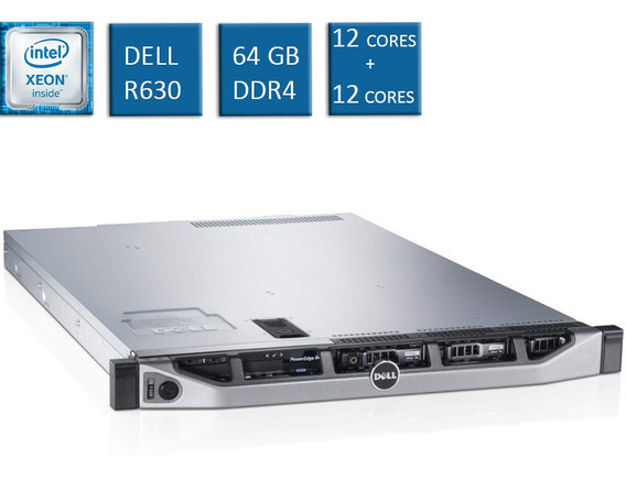 Servidor Dell Poweredge R630 2 Xeon E5-2670v3 2 Sas 1,8t 10k