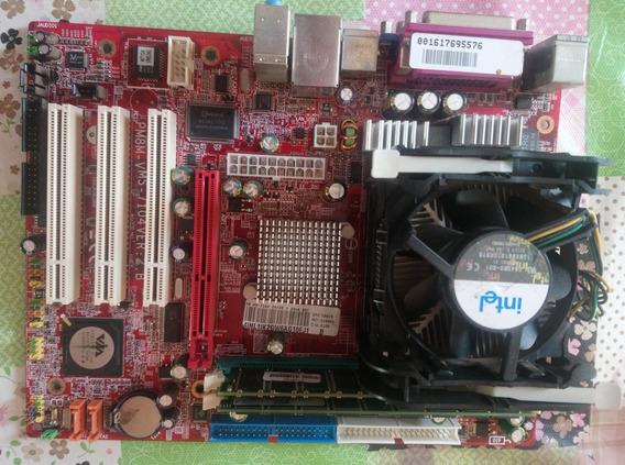 Kit Placa Msi Pm8m-v Ms+2 Gb De Memória Ram+ Processador