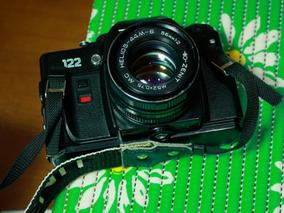 Câmera Fotográfica Analógica Zenit + Lente Helios 58 Mm