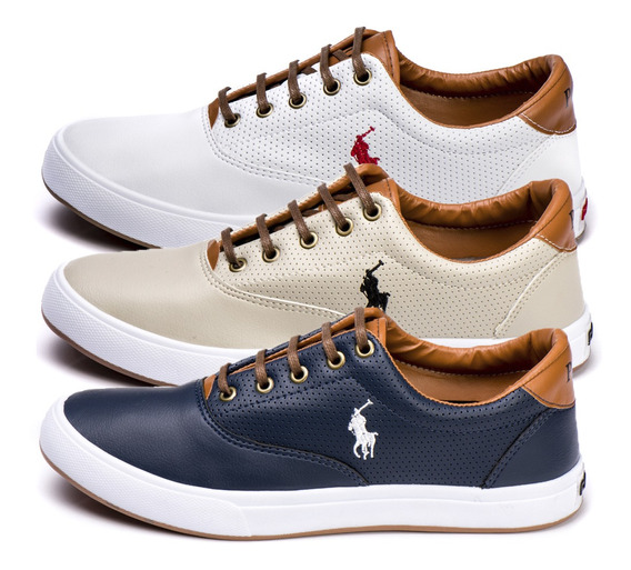 Kit 3 Pares Do Tenis Da Polo Way Sapatenis Original Barato