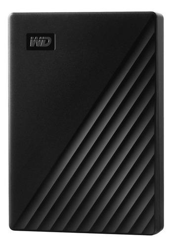 Imagen 1 de 4 de Disco duro externo Western Digital My Passport WDBPKJ0040 4TB negro