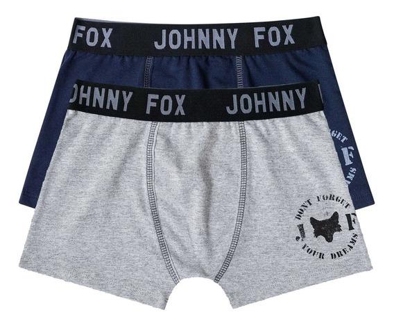 Kit 2 Cuecas Infantil Boxer - Johnny Fox