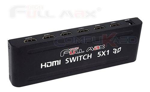 Switch Selector Hdmi 5 X 1 De 5 Equipos A 1 Tv Full Hd 3d