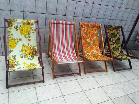 Cadeiras Espreguiçadeiras Em Madeira