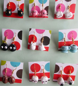 nuevo estilo 06127 fe0bd Aretes De Conejo Porcelana Fria Fantasia - Joyería en ...