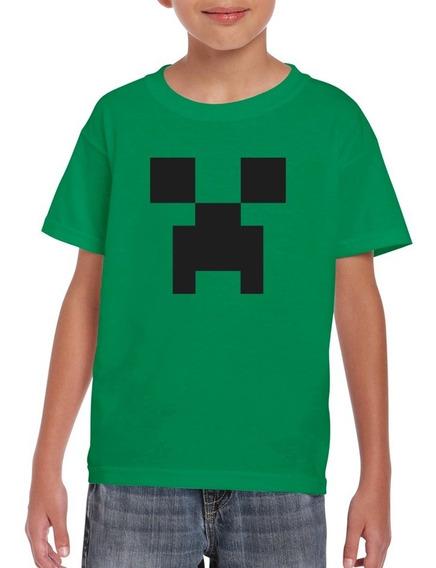 Playera Minecraft Personalizada Fiesta De Cumpleaños