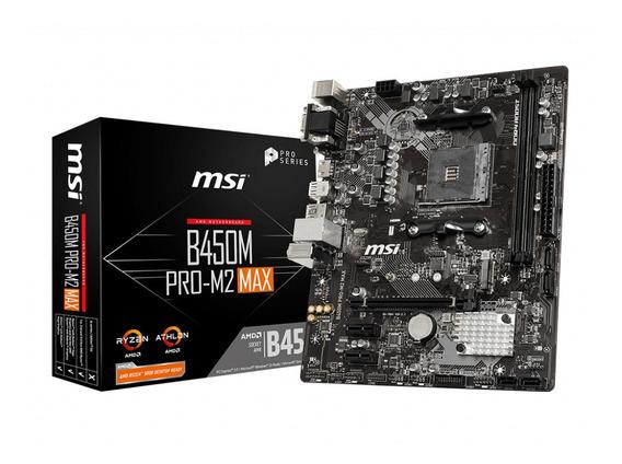 Motherboard Amd Msi B450m Pro M2 Max Am4 Ddr4 B450 1