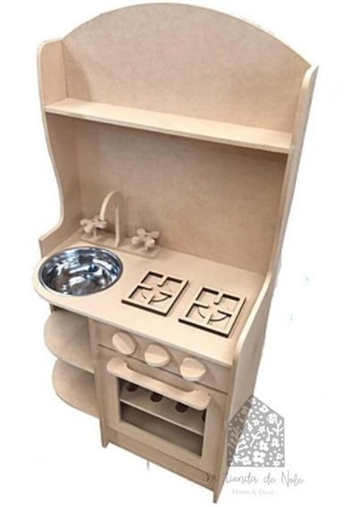 Cocina De Juguete C/ Alzada Simple Infantil Fibrofacil