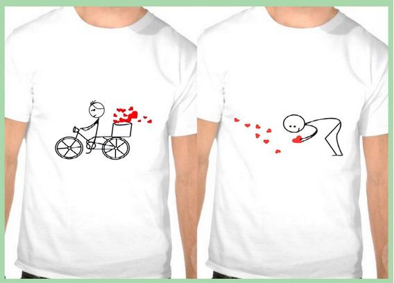 2 Camiseta Casal De Namorados Gay Bicicleta